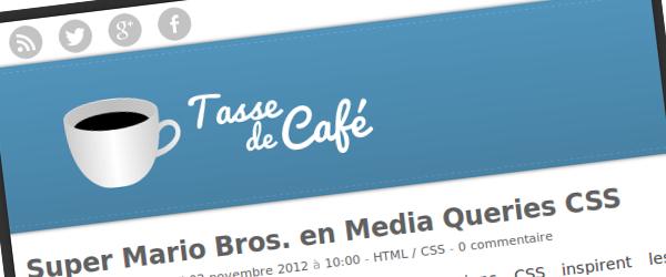 Design responsive de Tasse de Café